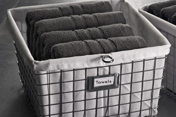 Storage Basket With Liner Chrome
