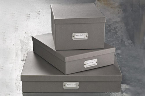 Storage Boxes (Grey) - Three Sizes - Squared Away Organization Solutions Houston TX & Storage Boxes (Grey) - Three Sizes - Squared Away Organization ...