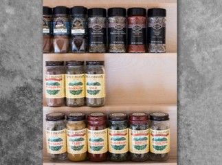 Custom Wood Spice Drawer Organizer