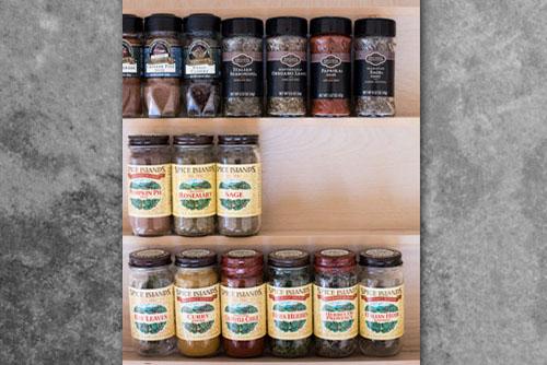 Custom Wood Spice Drawer Organizer