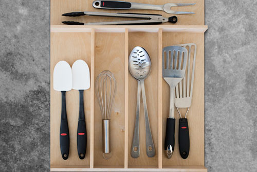 Custom Wood Kitchen Utensil Drawer Organizer   Squared Away, Organization  Solutions Houston TX